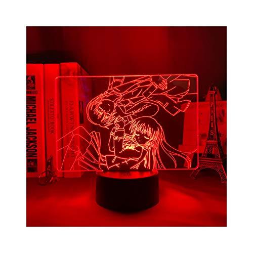 TIDRT Anime 3D Lámpara De Mesa Angel Shoot Boy Girl Decoración De Dormitorio Regalo Linterna Led Iluminación De Control Remoto Luz De Noche