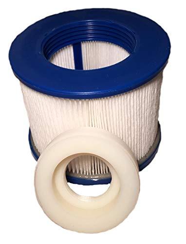 1 Filterkartusche mit Adapter für Whirlpool BCool III, B-Happy, B-Light, B-Smiley, B-Lucky & B-Shine (alle zuvor genannten Modelle bis 04/2019)