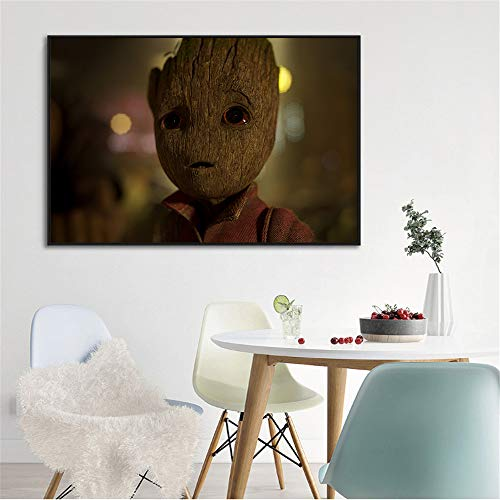 tzxdbh Kwekerij Posters Canvas Kids Room Decor Baby Groot Movie Posters en Prints Wachters Galaxy Superheroes Avengers Infinity War-in Schilderij & Kalligrafie G Unframed 40x60 CM