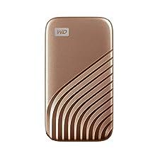 WD My Passport SSD 1 TB externe SSD (externe Festplatte mit SSD Technologie, NVMe-Technologie, USB-C und USB 3.2 Gen-2 kompatibel, Lesen 1050 MB/s, Schreiben 1000 MB/s) gold©Amazon