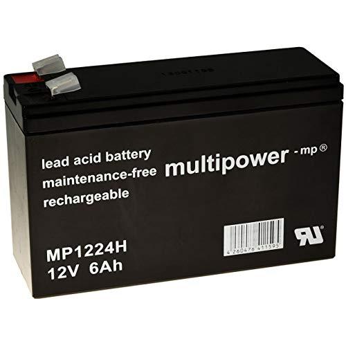 Powery Batería Plomo (multipower) MP1224H de Tipo de Alta Descarga