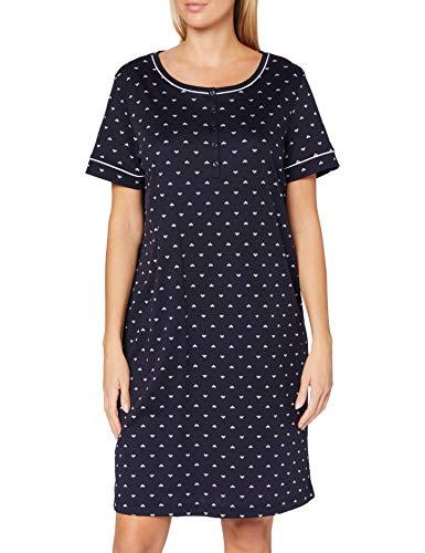 CALIDA Damen Night Lovers Kurzarm Nachthemd, Dark Lapis Blue, 48