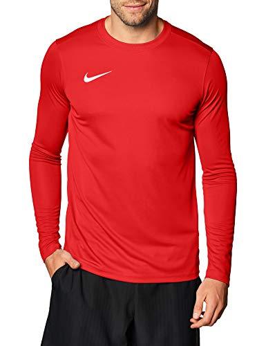 Nike M Nk Dry Park VII JSY LS, T-Shirt A Manica Lunga Uomo, University Red/White, L