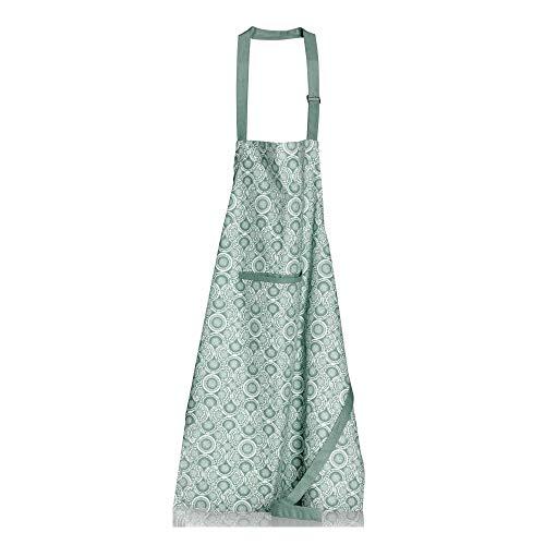 Winkler - Tablier de cuisine Eline – Blouse lavable imperméable 100% coton – Poche centrale - Sangle ajustable – Motif imprimé coloré