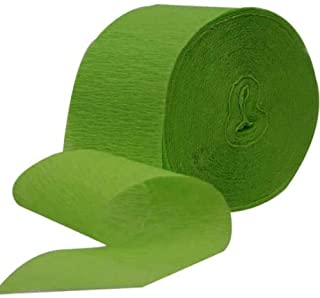 Amscan Party Perfect Plain Crepe Streamers Decorations, Crepe Paper, 25m, 1 Roll Kiwi Green