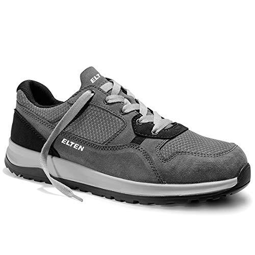 ELTEN Sicherheitshalbschuhe S1 Journey, Farbe:grau, Schuhgröße:43 (UK 8.5)