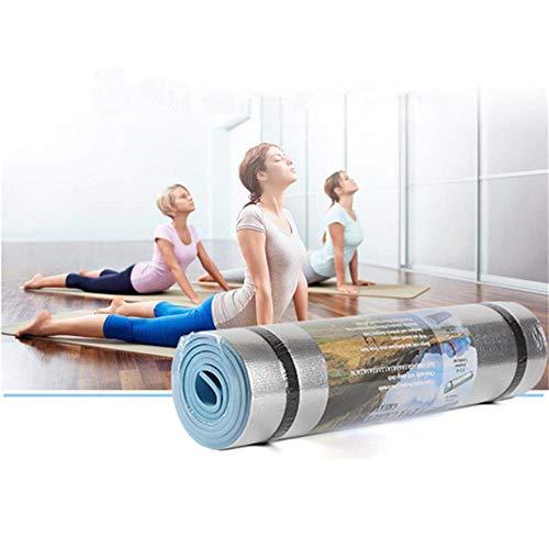 XCC Yoga-Matte Aluminium Film Feuchtraum-Trainings-Übungs-Gym Pilates Pad-Qualitäts-Anti-Rutsch Für Tasteless Isomatte für Camping, Wandern, Reisen, Bauch Übungs-Training, Strand,Beige