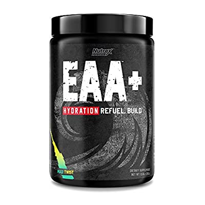 Nutrex Research EAA Hydration   EAAs + BCAAs Powder   Muscle Recovery, Strength, Muscle Building, Endurance   8G Essential Amino Acids + Electrolytes   Maui Twist Flavor 30 Serving