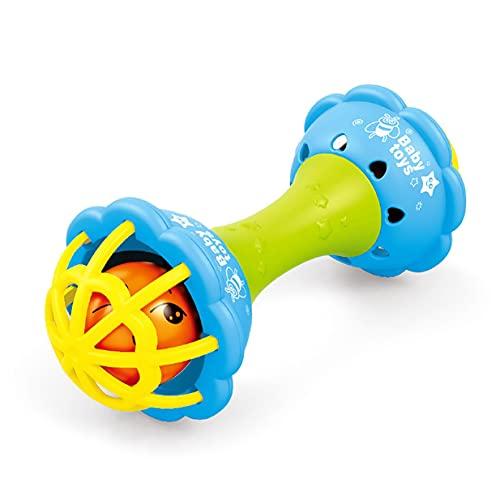 Timetided Sonajero para reci¨¦n nacido, mano de beb¨¦, agarre de color molar, pl¨¢stico, pl¨¢stico blando, sonajero para ni?os, juguete de confort, color aleatorio