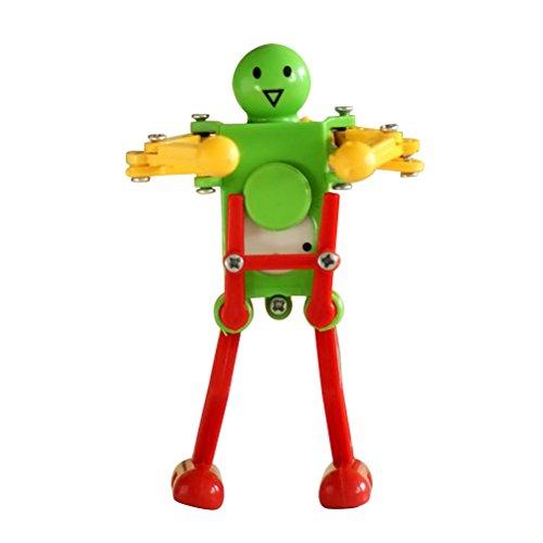 Unbekannt q Tanzen Roboter Uhrwerk Spielzeug Aufziehbar Lustige Aufziehspielzeug Babyspielzeug Kinderspielzeug für Baby Kinder Kleinkinder Entwicklung Geschenk (Zufällige Farbe)