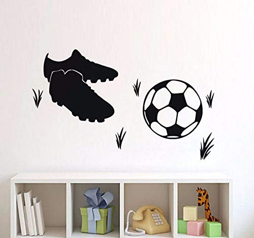 Hanjiming Football Sneakers Vinyl Wall Sticker Self-Sticking Bedroom Diy Wall Stickers For Kids Rooms Home Decor Sticker Mural