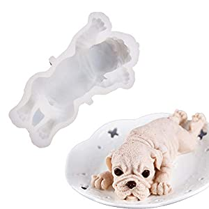 Cake topper mold in dog shape