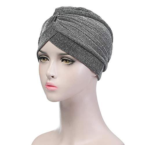 Turbantes Headband Diademas para Mujer Turbantes Bandanas Diadema Turbante Elástico Sombrero Musulmán Diadema Wrap Hijab