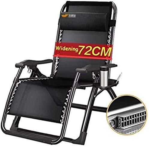 Chaise Transats Recliners Oversize Patio Longue de Jardin Fauteuil inclinable extérieur Pliant Supports Portables 200 kg