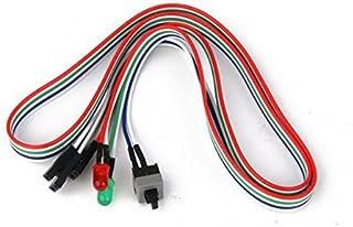 Homyl Ligue/Desligue/Reinicie O Cabo de Alimentação Da Placa-mãe Do Computador PC ATX W/HDD LED Luz