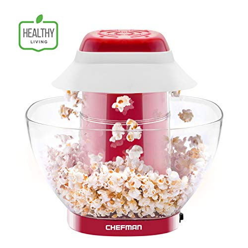 Sale!! Chefman Electric Perfect Pop Volcano Popcorn Maker with Removable Serving Bowl, Healthier & F...
