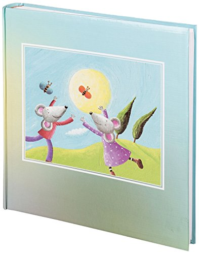 Idena 541115 Baby Jumboalbum Mäuse, 50 Seiten mit Pergamin