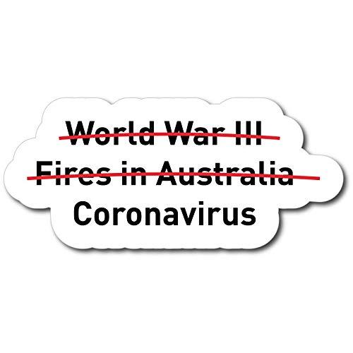 ADESIVO STICKERS SURVIVED WORLD WAR AND CORONAVIRUS 10X5CM