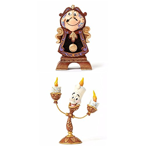 Disney Tradition Keeping Watch (Cogsworth Figur) + Disney Tradition Ooh La La (Lumiere Figur)