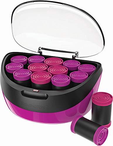 Jumbo Lockenwickler H5670, aufheizbar, Keramik-Ionen-Technologie, Wachskern, zwei Größen (40 mm, 35 mm), schwarz/pink