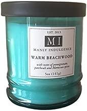 Manly Indulgence Warm Beachwood Scented Candle 5 oz