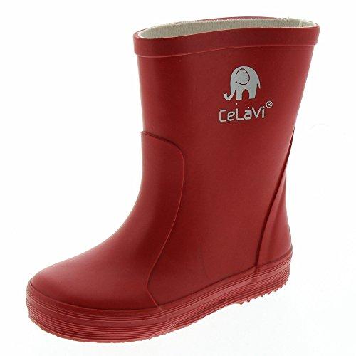 CELAVI Unisex-Child Gummistiefel Rain Boot, Roth, 26 EU
