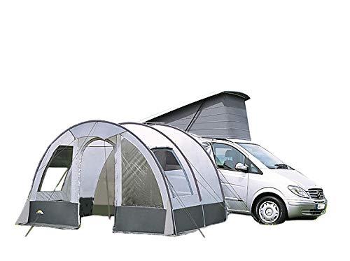 dwt Buszelt Rodeo II 340x240 cm grau Reisezelt Mobilzelt Tunnelzelt Camping Outdoor freistehend Wohnwagenvorzelt