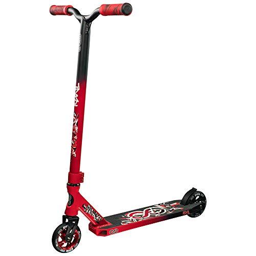 Infinity Scooters Patinete Freestyle para Adultos y Niños a Partir de 8 años- Patinete de Trucos y Saltos con Rodamientos ABEC-9 Ruedas 110mm de PU con Barra 360 Grados (Revel Negro/Rojo)