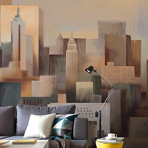 York City Wallpaper für Wände Benutzerdefinierte 3D-Gebäude Wandbild Abstrakte Malerei Foto Wallpaper Kunst Schlafzimmer Hotel Tv Hintergrund, 200cm×140cm