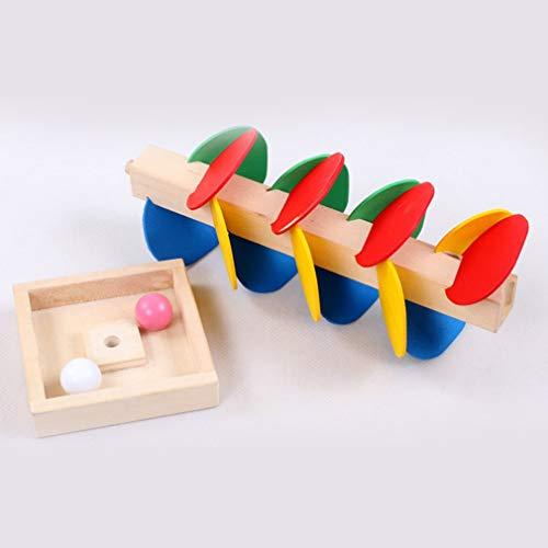Juguete Educativo Montessori, árbol, Bola de mármol, Juego de Pista, Juguete para niños (Multicolor)