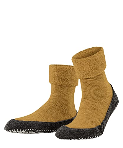 FALKE Herren Cosyshoe M HP Hausschuh-Socken, Blickdicht, Gelb (Marigold 1224), 43-44