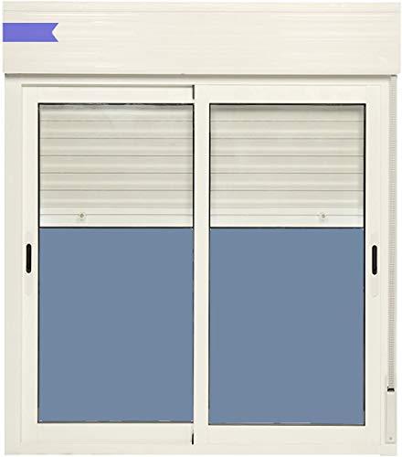 Ventanastock Ventana Aluminio Corredera Con Persiana PVC 1000 ancho × 1150 alto 2 hojas