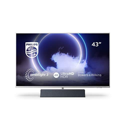 Philips Ambilight TV 43PUS9235/12 Smart TV 43 Pulgadas con Sonido de Bowers & Wilkins (P5 Engine, 4K UHD, Dolby Vision∙Atmos, Android TV, HDR 10+, Control por Voz) [Modelo de 2020/2021]