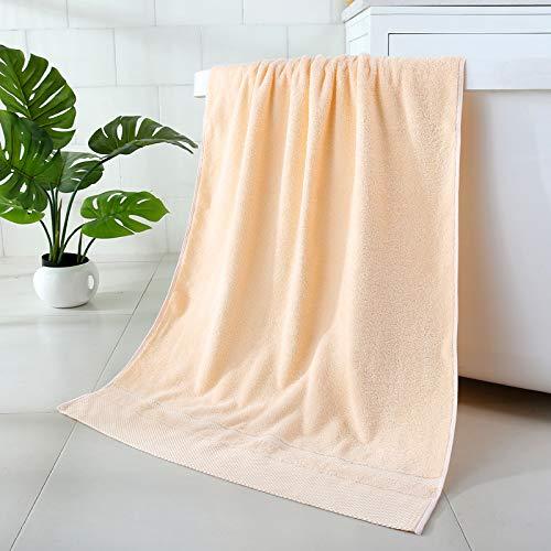 Toalla de baño Engrosada para Adultos algodón Puro algodón de Fibra Larga Absorbente Suave 70 * 140 Diamante Naranja Claro Toalla de baño