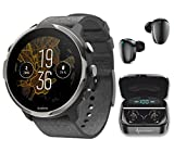 Suunto 7 Graphite Limited Edition GPS Sports Smartwatch with Gift Box with Wearable4U Earbuds Power Bundle