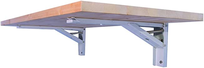 """The Quick Bench folding wall mounted workbench with 20"""" x 48"""" collapsible.."""