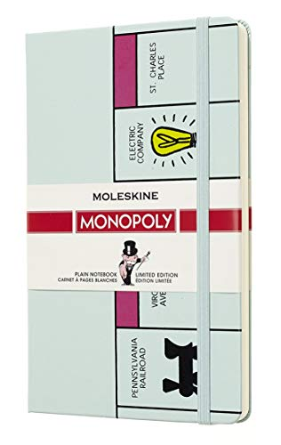 Moleskine Notizbuch - Monopoly, Large, A5, Blanko, Hard Cover, Spielbrett (EDITION LIMITEE)