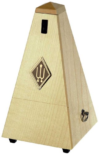 Wittner 903825 Metronomo Forma Piramidale Cassa Legno Colore Acero Naturale Satinato