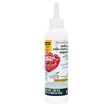 Scotch Tacky Glue Quicky Dry 4 fl oz  021-ESF   White