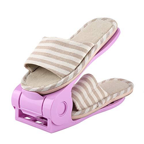 Organizador De Ranuras para Zapatos Ajustables Estantes para Zapatos Estante para Zapatos con Ahorro De Espacio Blanco 10 Piezas (Morado) SCHUHREGALE