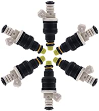 SCITOO Fuel Injectors Kits OEM Black 0280150710 Fuel Injector fit for Ford Lincoln Mercury (Set of 6)