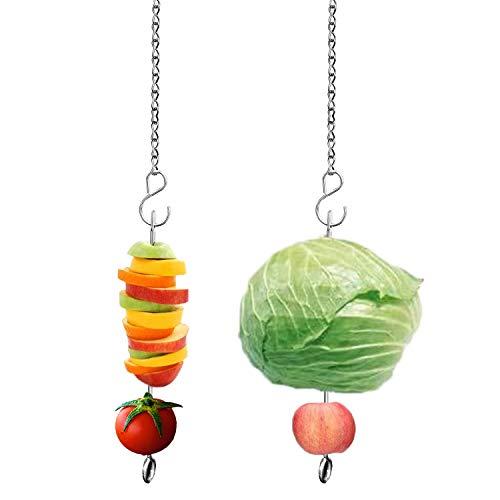 Chicken Veggies Skewer Vegetable Hanging Feeder Toy Chicken Fruit Feeder for Hens Chicken Large Birds Pet