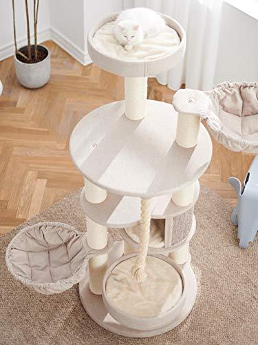 Katzen Kratzbaum Kratzbaum Für Katzen Kletterbaum Für Katzen Große Katze Klettergerüst Katzennest Kratzbaum Integrierte Luxus Massivholz Katze Villa Katzenrahmen Katze Grab Seil Katzenbett Spielzeug