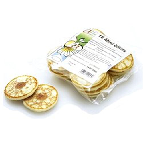 ミニ ブリニ フランス産 ミニパンケーキ 16枚×12pc ケース販売 そば粉不使用 塩味 グルメ大陸