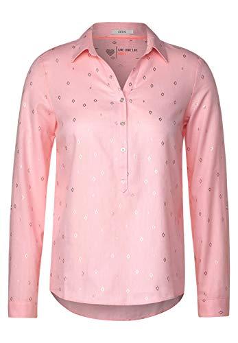 Cecil Damen Hemdbluse mit Ikat-Print Bright Rose Melange XL