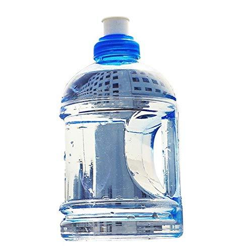 Qxinjinxshu 1000ML Creativas de Gran Capacidad Botellas de Agua de Deportes al Aire Libre Gym Fitness Formación Camping Running Entrenamiento Botella de Agua (Color : Blue)
