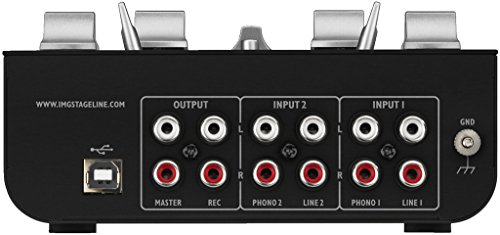IMG Stage Line Mpx de 20usb 3canaux stéréo Table de mixage DJ avec interface USB Noir