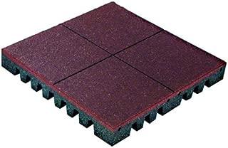 PlayFall Playground Safety Tiles, Terra Cotta, Pallet of 80 Tiles - 2' x 2' Rubber Tiles (320 sq. ft.) 1.75