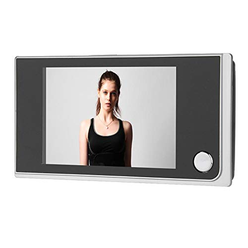 ROBTLE Greeter Digital Door Viewer & Doorbell, 3.5' LCD Security Camera Monitor 120 Degree Peephole Viewer Photo Visual Monitoring