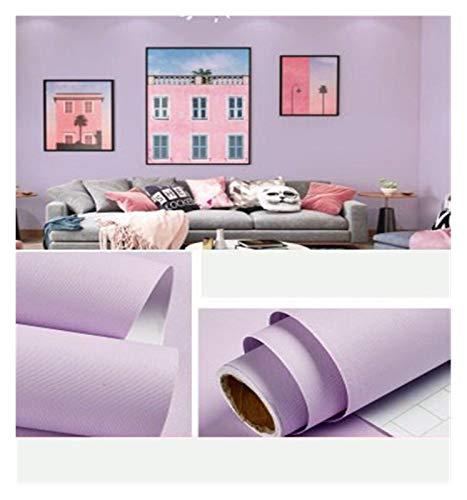 WHYBH HYCSP Tapete Selbstklebende Schlafzimmer wasserdicht warmen rosa Tapete Schlafsaal Wandaufkleber dekorative Tischschrank Möbel (Color : Purple, Size : 3mx60cm)